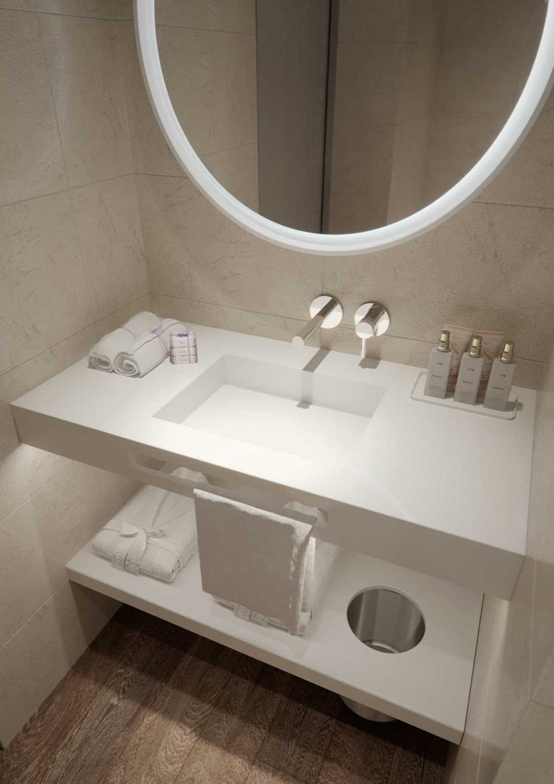 Cruise ship bathroom renovation