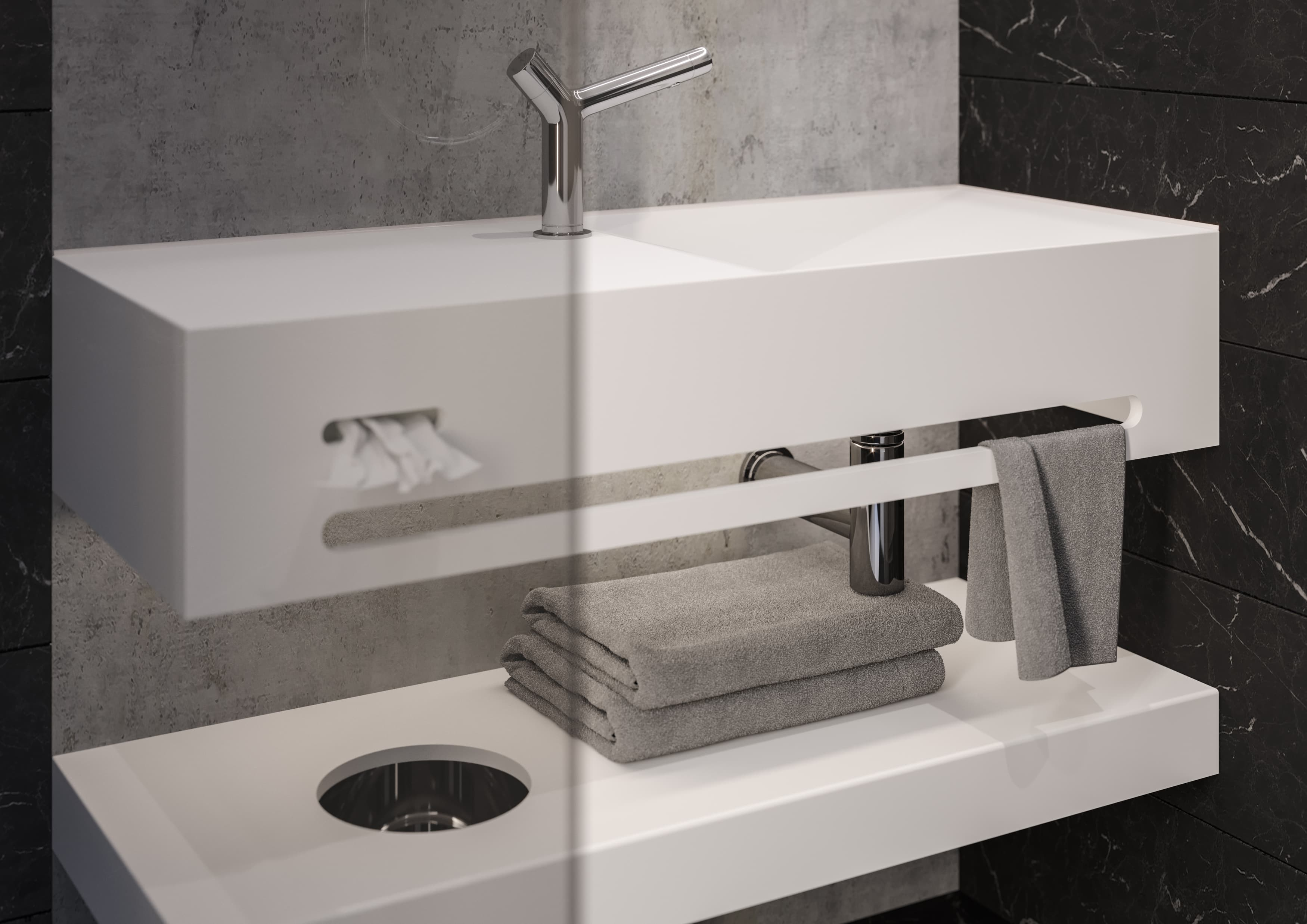 The complete bathroom console solution