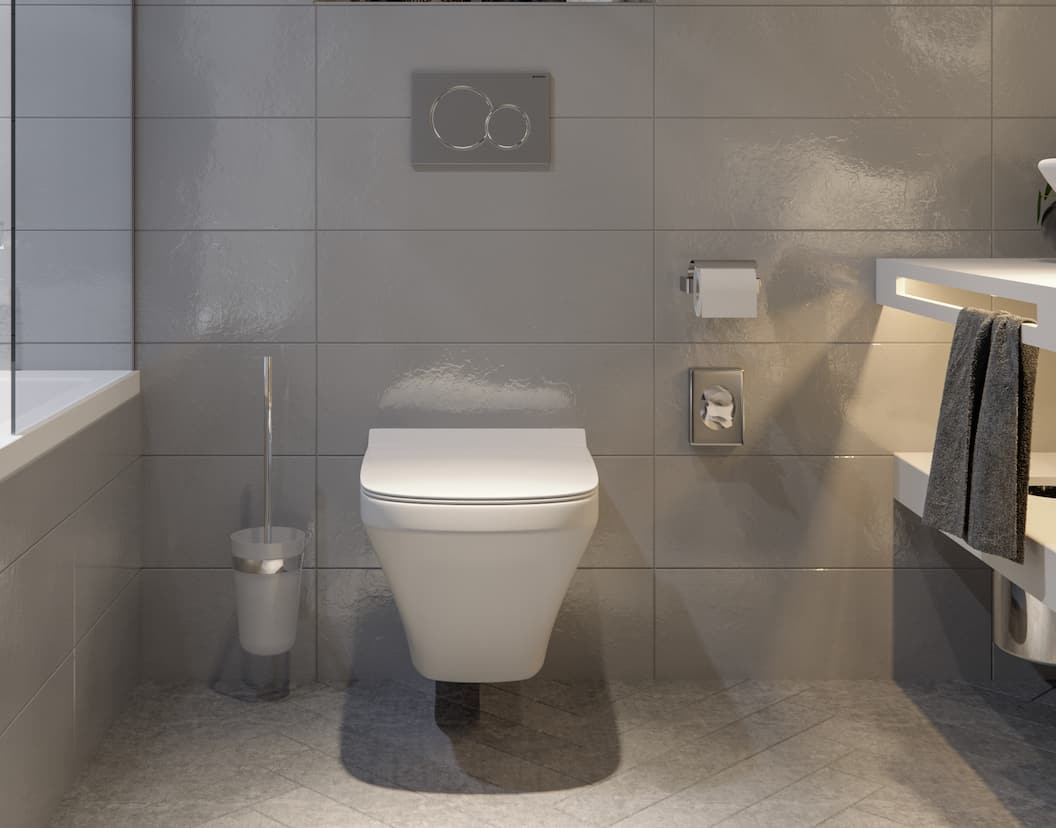 Pocket – The in-wall toilet system for bathrooms with limited space