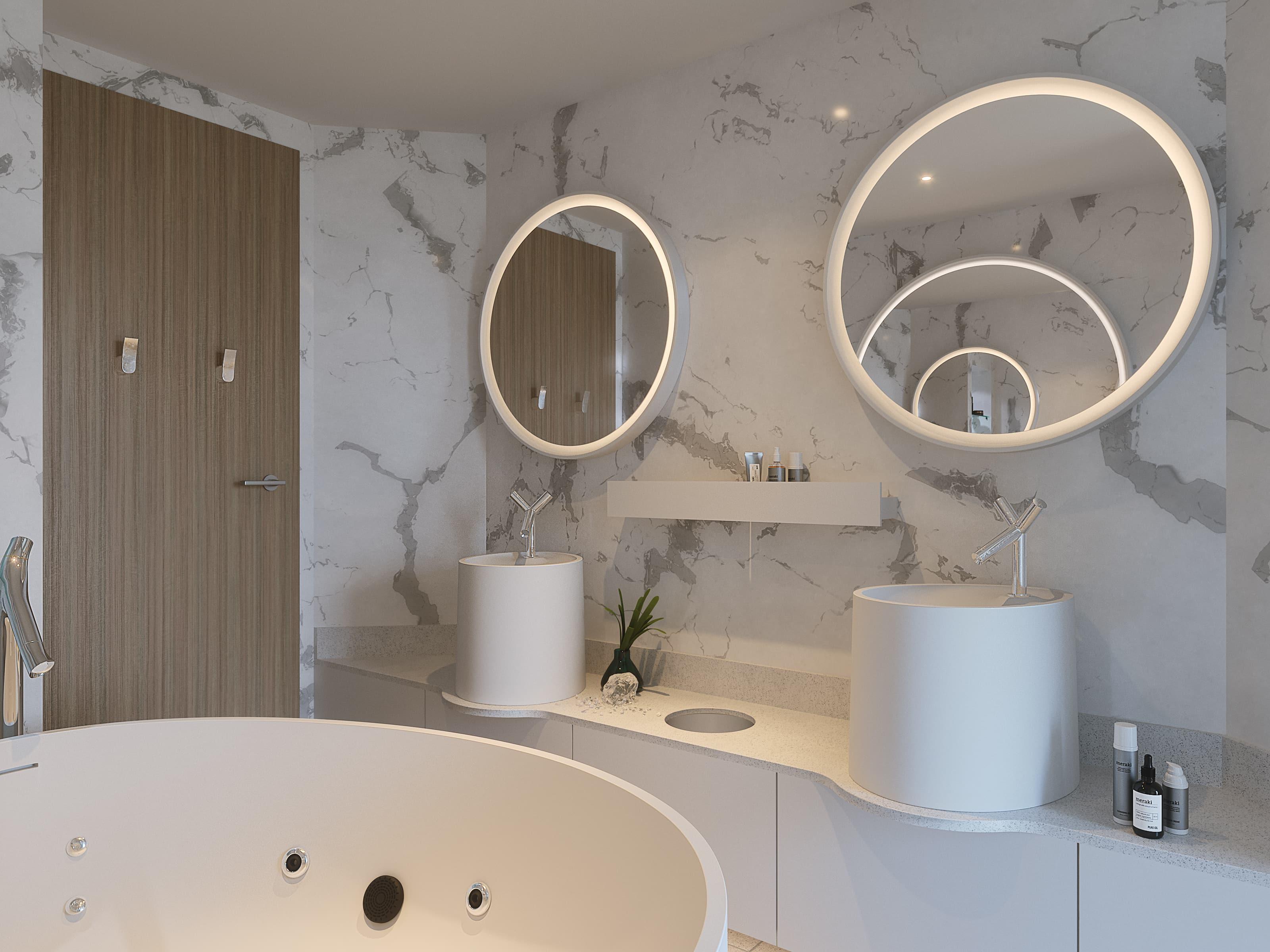Bringing modern design to cruise ship bathrooms