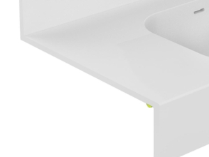 Led light below basin or shelf