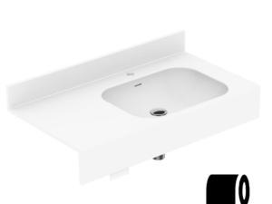 Toilet paper holder (concealed)
