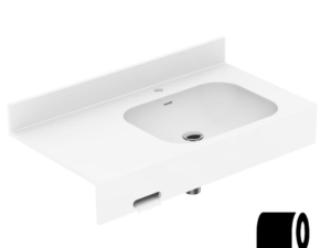Toilet paper holder opening