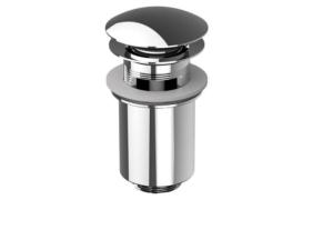 waste closable push-open (brass, chrome)