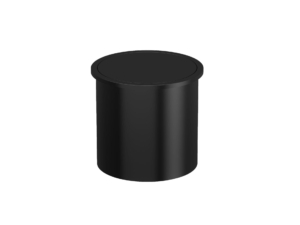 paper bin 3.5l with cover AISI304 black