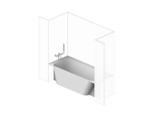madeira bathtub niche, right